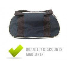 NYLON 2 BOWL BAG + ZIP- NAVY