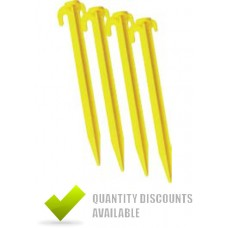 PLASTIC GROUND PEGS - (PACKET OF 10)