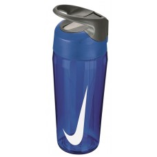 NIKE WATER BOTTLE HYPERCHARGE STRAW 16oz-BLUE/WHITE
