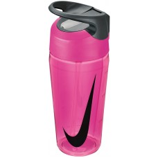 NIKE WATER BOTTLE HYPERCHARGE STRAW 16oz-PINK/BLACK