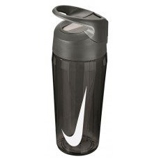 NIKE WATER BOTTLE HYPERCHARGE STRAW 16oz-ANTHRACITE/WHITE