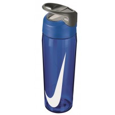 NIKE WATER BOTTLE HYPERCHARGE STRAW 24oz-BLUE/WHITE