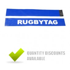 RUGBY TAG BELT BLUE (2 TAGS + 1 VELCRO BELT)