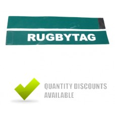 RUGBY TAG BELT GREEN (2 TAGS + 1 VELCRO BELT)