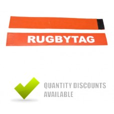 RUGBY TAG BELT RED (2 TAGS + 1 VELCRO BELT)