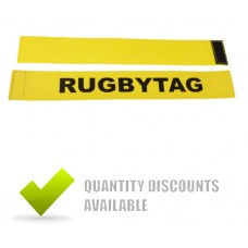 RUGBY TAG BELT YELLOW (2 TAGS + 1 VELCRO BELT)